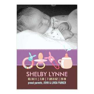 Invitaciones del nacimiento para una niña anuncio personalizado