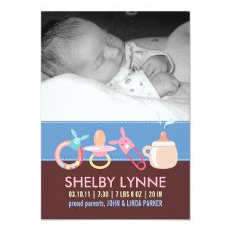 Invitaciones del nacimiento para una niña anuncios personalizados