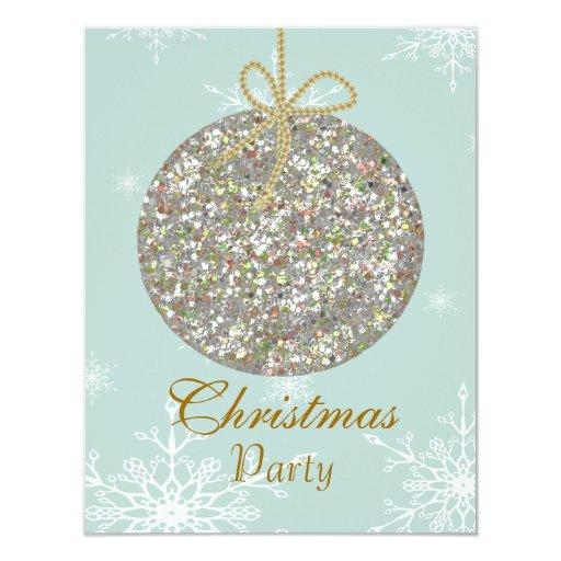 Invitaciones del navidad con los ornamentos y el invitación 10,8 x 13,9 cm