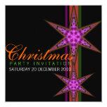 """Invitaciones del navidad de la estrella de la invitación 5.25"""" x 5.25"""""""