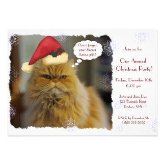 Invitaciones del navidad del gato persa invitacion personal
