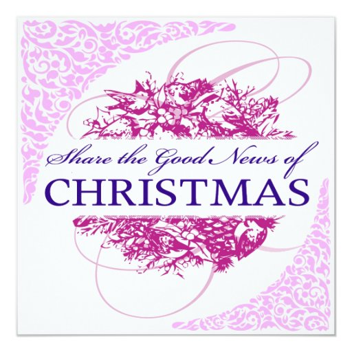 """invitaciones del navidad invitación 5.25"""" x 5.25"""""""
