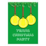 Invitaciones del navidad para el tenis