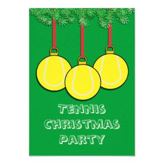"""Invitaciones del navidad para el tenis invitación 5"""" x 7"""""""