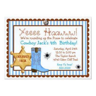 Invitaciones del oeste salvajes del cumpleaños del invitación 12,7 x 17,8 cm