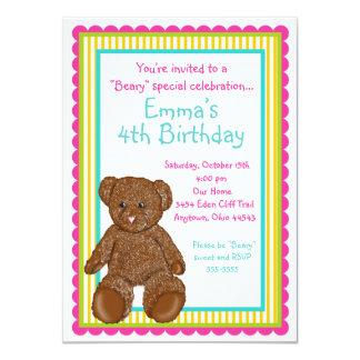 Invitaciones del oso de peluche invitación 11,4 x 15,8 cm