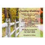 Invitaciones del país del otoño comunicados personales