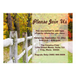 Invitaciones del país del otoño comunicado personal