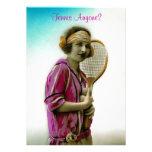 Invitaciones del partido o del torneo del tenis invitación personalizada