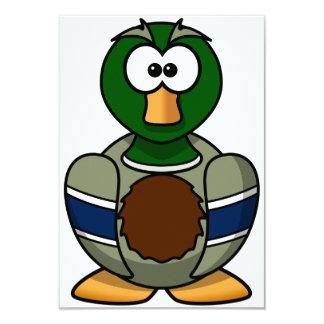 Invitaciones del pato del pato silvestre del invitación 8,9 x 12,7 cm