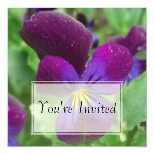 Invitaciones del pensamiento anuncio personalizado