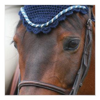 """Invitaciones del perfil del caballo invitación 5.25"""" x 5.25"""""""