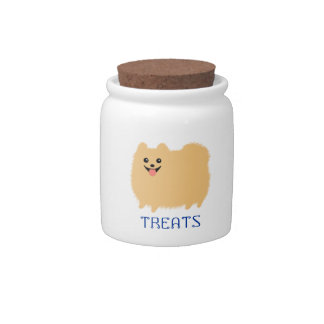 Invitaciones del perrito de Pomeranian - perro lin Jarras Para Caramelos