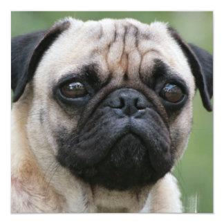 """Invitaciones del perro de perrito del barro invitación 5.25"""" x 5.25"""""""