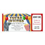 Invitaciones del personalizado del boleto del comunicado personal