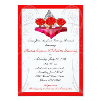 Invitaciones del personalizado del brunch de la comunicado personal