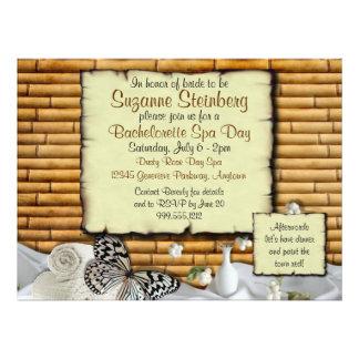 Invitaciones del personalizado del día del balnear comunicado