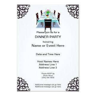 """Invitaciones del personalizado del fiesta de cena invitación 5"""" x 7"""""""