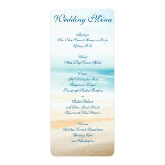 Invitaciones del personalizado del menú del boda invitación personalizada