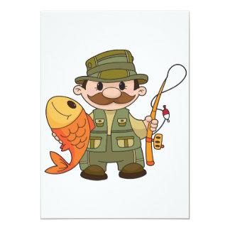 """Invitaciones del pescador invitación 5"""" x 7"""""""