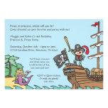 Invitaciones del pirata y de la sirena