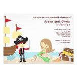 Invitaciones del pirata y de la sirena invitaciones personales