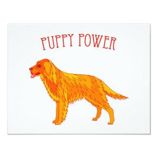 """Invitaciones del poder del perrito invitación 4.25"""" x 5.5"""""""