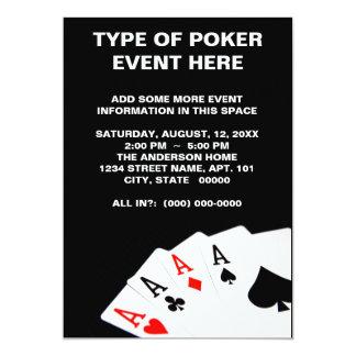 Invitaciones del póker invitación 12,7 x 17,8 cm