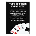 Invitaciones del póker anuncio
