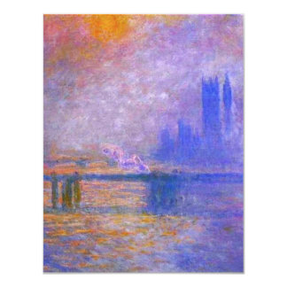 """Invitaciones del puente cruzado de Monet Charing Invitación 4.25"""" X 5.5"""""""