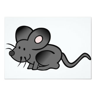 """Invitaciones del ratón del dibujo animado invitación 5"""" x 7"""""""