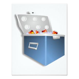 """Invitaciones del refrigerador del hielo invitación 4.25"""" x 5.5"""""""