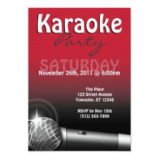 Invitaciones del rojo del fiesta del Karaoke Invitación 12,7 X 17,8 Cm