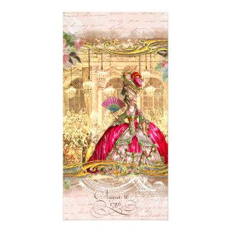 Invitaciones del rosa del fiesta de Marie Antoniet Tarjetas Con Fotos Personalizadas