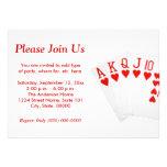 Invitaciones del rubor recto del póker invitaciones personalizada