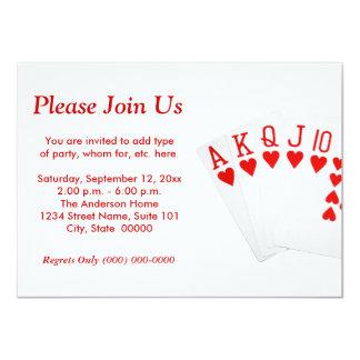 Invitaciones del rubor recto del póker invitación 11,4 x 15,8 cm
