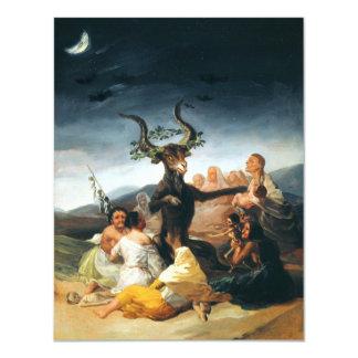 """Invitaciones del Sabat de las brujas de Goya Invitación 4.25"""" X 5.5"""""""
