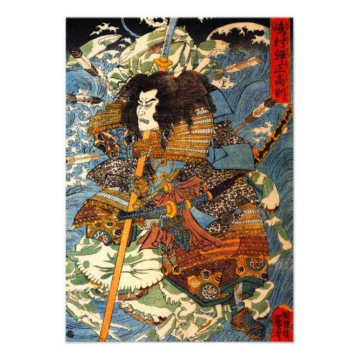 Invitaciones del samurai de Kuniyoshi Comunicados