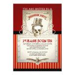 Invitaciones del scull del vintage del fiesta de invitación 12,7 x 17,8 cm