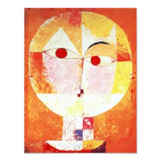 """Invitaciones del Senecio de Paul Klee Invitación 4.25"""" X 5.5"""""""