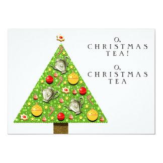 """Invitaciones del té del navidad invitación 5"""" x 7"""""""