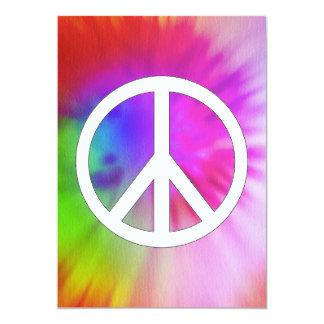 """Invitaciones del teñido anudado de la paz invitación 5"""" x 7"""""""