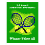 Invitaciones del tenis invitacion personal