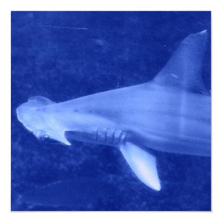 """Invitaciones del tiburón de Hammerhead Invitación 5.25"""" X 5.25"""""""
