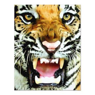 Invitaciones del tigre invitación 10,8 x 13,9 cm