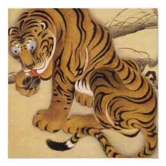 Invitaciones del tigre de Ito Jakuchu Invitación 13,3 Cm X 13,3cm