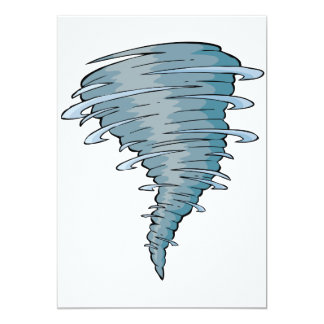 Invitaciones del tornado invitación 12,7 x 17,8 cm