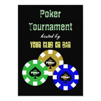 Invitaciones del torneo del póker invitación 12,7 x 17,8 cm