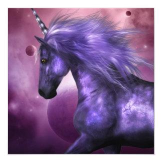 """Invitaciones del unicornio invitación 5.25"""" x 5.25"""""""