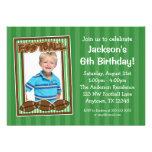 Invitaciones del verde de la fiesta de cumpleaños
